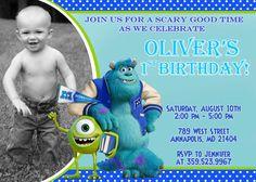 Monster University Birthday Party Invitation by FabulousInvitation, $8.99