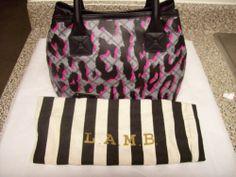 L.A.M.B. Gwen Stefani LEOPARD CHEETAH PINK BLACK Williamsfield Tote Bag