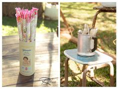 Love the candy tin! A vintage baby shampoo bottle! Pink Lemonade Stand with SUCH CUTE IDEAS via Kara's Party Ideas | Kara'sPartyIdeas.com #Rustic #LemonadeStand #PartyIdeas #Supplies #vintage