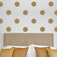 Love these polka dot wall decals – and they come in a TON of different colors!