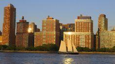 A bright, sunshiny day. New York City, U.S.A.