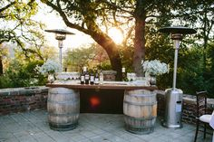 Bar set up - Vintage Romance Sonoma Wedding