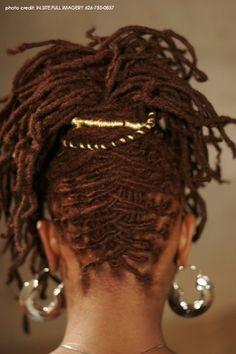 Loc updo | Black Women Natural Hairstyles