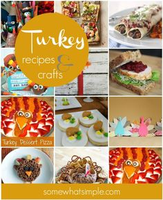 Fun Turkey Recipes  Crafts for Thanksgiving