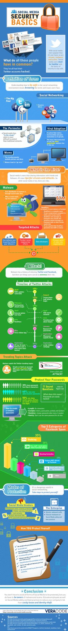 Social Media #Security Basics #infography