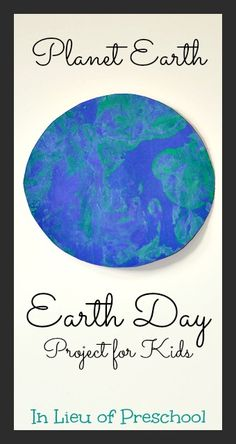 Planet Earth Paintings - Process Art for Kids #EarthDay