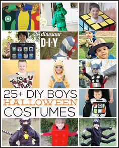25+ DIY Boys Halloween Costumes featured on www.thirtyhandmadedays.com