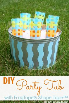 DIY Party Tub using Frog Tape Shape Tape