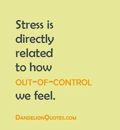 stress....