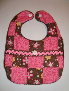 Quilted Baby Bib by HobbyWorkshop on Etsy, $15.00