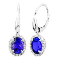 Tanzanite drop earrings
