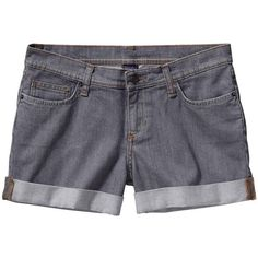Patagonia Women's Denim Shortie Short ❤ liked on Polyvore