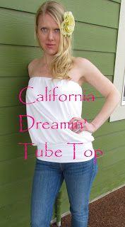 Little Bean Workshop: California Dreamin' Tube Top Tutorial