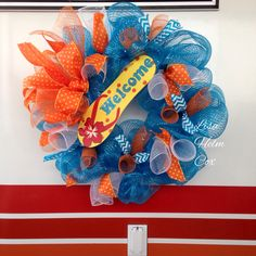 Flip Flop deco mesh wreath, $42
