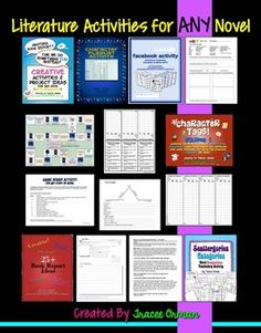 Literature activities for ANY novel: This bundle contains many of my literature resources that can be used for any novel, short story, play, etc. Over 100 pages of handouts! Save $ by buying the bundle!