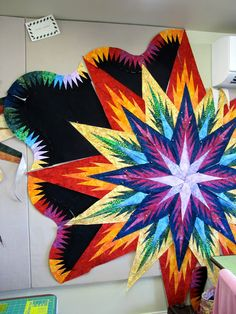 Canton Village Quilt Works ~ My feathered star in progress