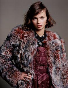 Alasdair McLellan Captures Rising Stars for Topshops Fall 2012 Campaign #alasdairmclellan #topshops #fall2012 #2012 #fall #campaign #fashion #fashionstyling #style #photography #brunette #lookbook