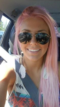 feather pink hair