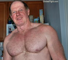 hot muscular older man