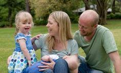 breastfeeding family photo