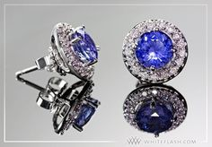 Sapphire and Diamond Earring Jackets by Whiteflash.com