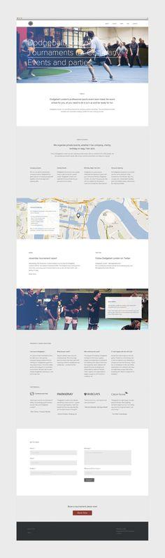 Dodgeball London by Hatch Inc. #grafica #web