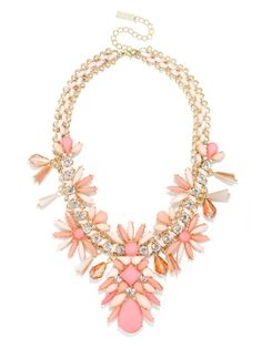 Blush Statement Necklace Maid Mirian Bib Necklace | BaubleBar