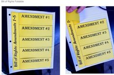 Bill of Rights unit for middle school... Foldables, sticky notes, and YouTube