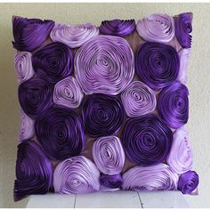 Violet Blooms  Throw Pillow Covers  20x20 Inches by TheHomeCentric, $39.95