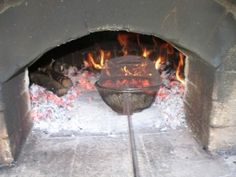 Roasting coffee in wood fired ovens. I have to try this!!