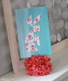 Persia Lou: Pom Pom Picture Holders paper craft, pom pom