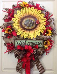 Spring / Summer Mesh Wreath on Etsy, $110.00