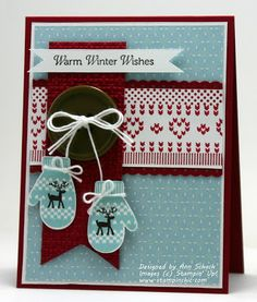 The Stampin' Schach: Warm Winter Mittens for The Paper Players