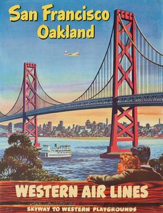 San Francisco & Oakland - Western Airlines