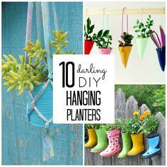 10 Darling DIY Hanging Planters #garden #planter #summer