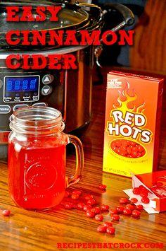 Easy Crock Pot Cinnamon Cider #CrockPot