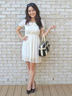 Crochet Babydoll Mini-dress @OASAP #fashion #blogger #ootd #style #lace #crochet #sensiblestylista
