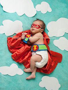 Inspire Portrait, newborn photography Great Falls, Montana- littlest super hero