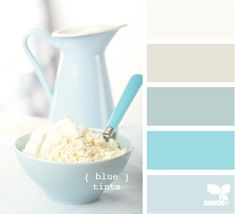 blue tints color palette