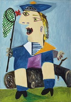 Pablo Picasso. Maya in a Sailor Suit. 1938 http://www.moma.org/collection/browse_results.php?criteria=O%3AAD%3AE%3A4609%7CA%3AAR%3AE%3A1page_number=433template_id=1sort_order=1 maya picasso, sailor suit, picasso selfportrait, art, suits, sailors, pablo picasso, picasso kid