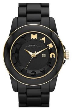 black style, accessori, watch, marc jacobs, beauti