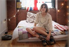 One more reason why I love but hate Alexa Chung: everything about her is so effortlessly COOL. Including her room