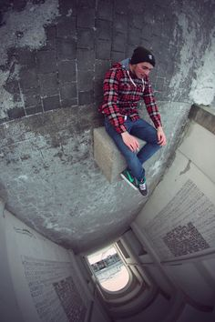 by German photographer Christopher Hassler shot in a tunnel using a fisheye lens