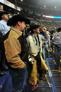 Bareback rider Caleb Bennett. See MORE pics here>> http://my.gactv.com/wrangler-national-finals-rodeo/gallery.esi?sortOrder=2&page=4
