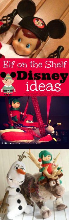 Fun Disney-inspired Elf on the Shelf ideas via momendeavors.com #ElfontheShelf
