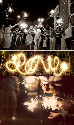 sparklers for your wedding exit