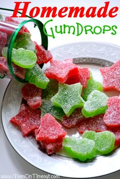 These Homemade Gumdrops are the perfect treat to make for friends and family during the holidays! | MomOnTimeout.com #recipes #Christmas