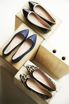 Flats in all in the right finishes.