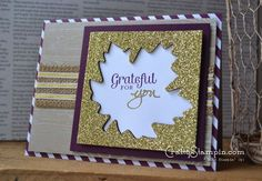 Gorgeous Fall card from the Stampin Up Merry Everything stamp set #stampinup