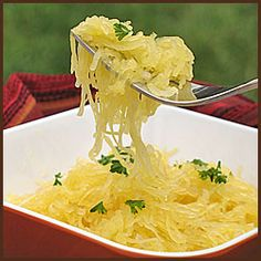 Spaghetti Squash with garlic butter